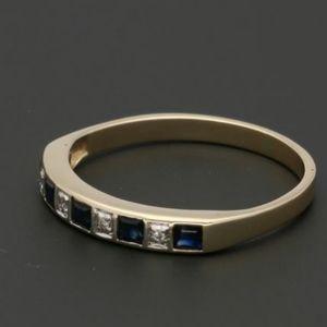 Jewelry - On Hold    14k Gold - Ring Sapphire Diamond